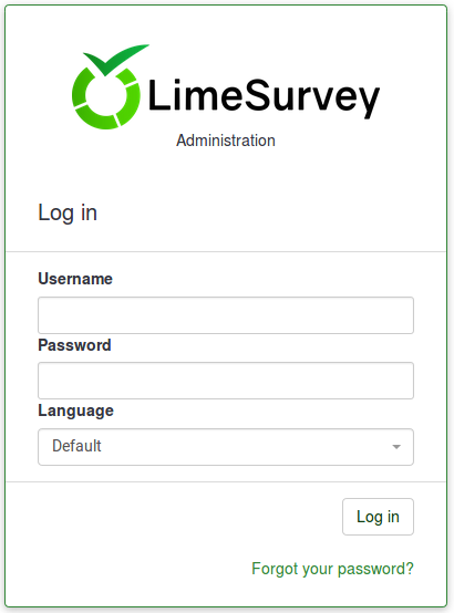 First login - your user preferences - LimeSurvey Manual
