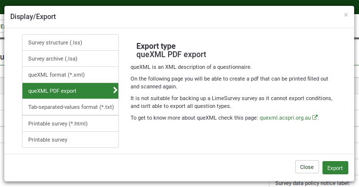 Quexml pdf export location.png