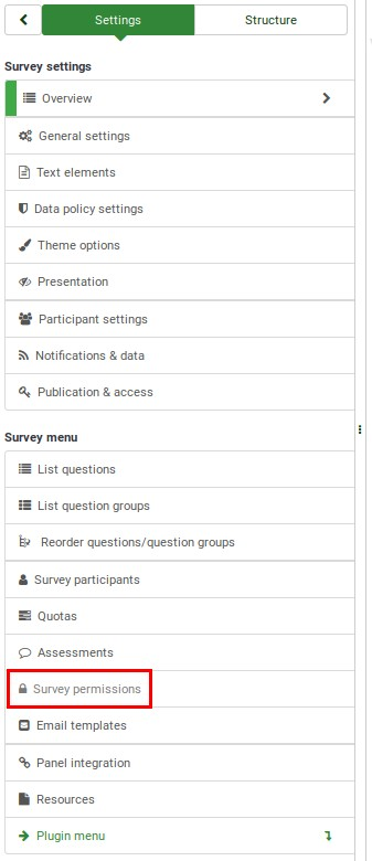 Manage users - LimeSurvey Manual