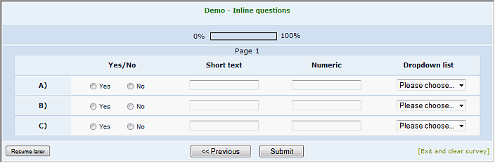 workarounds question design layout and templating limesurvey manual