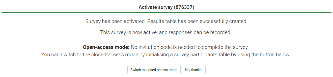QSG LS3 after activating a survey.png
