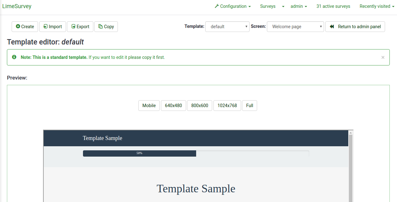 Template editor - LimeSurvey Manual