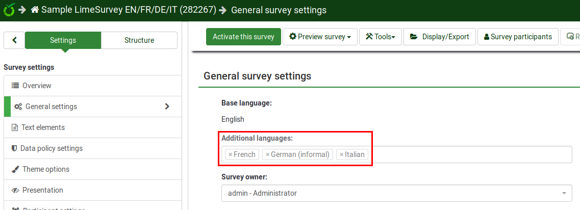 Multilinguar survey - add additional language.png