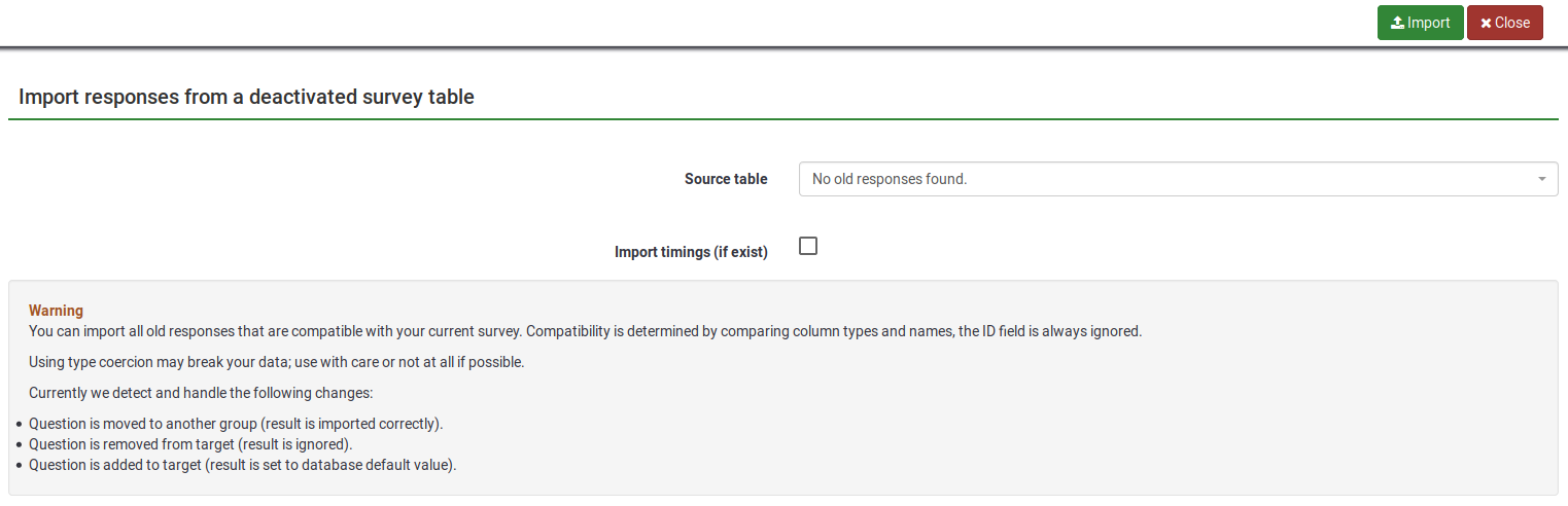 Import responses from a deactivated survey table.png