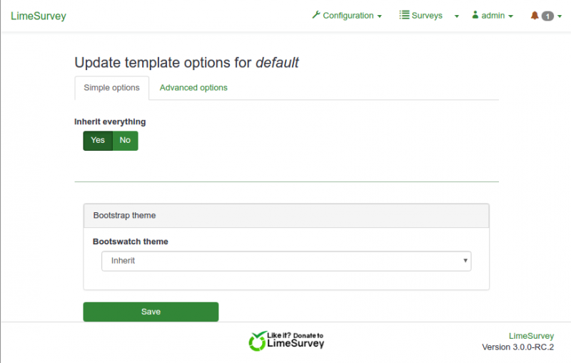 New Template System in LS3 x - LimeSurvey Manual
